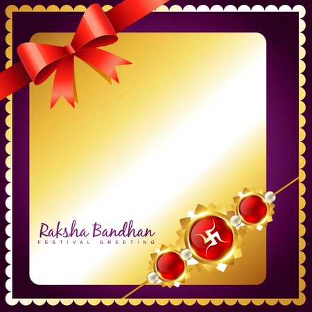 bhai: shiny golden rakhi vector background with space for your text