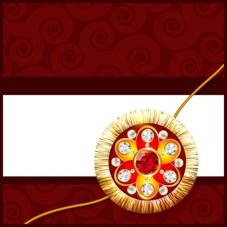 beautiful golden rakhi with space for your text Illustration