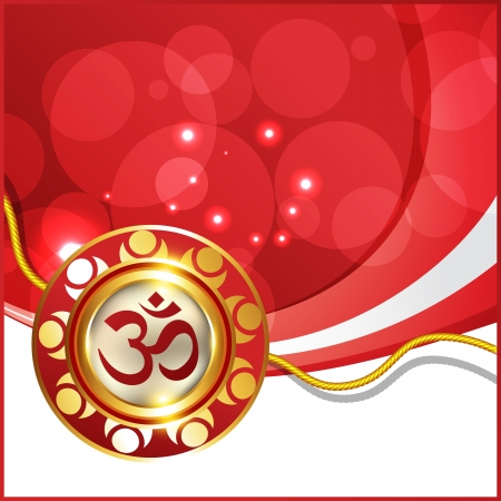 beautiful hindu festival rakhi background Stock Vector - 21282371