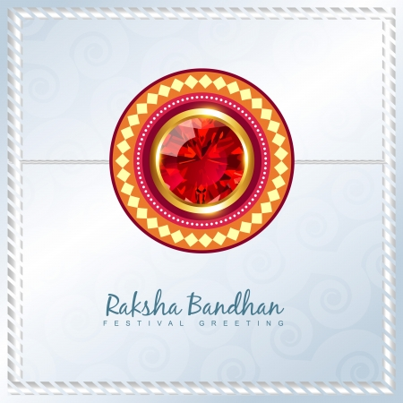 bhai: shiny rakhi vector background with space for your text Illustration