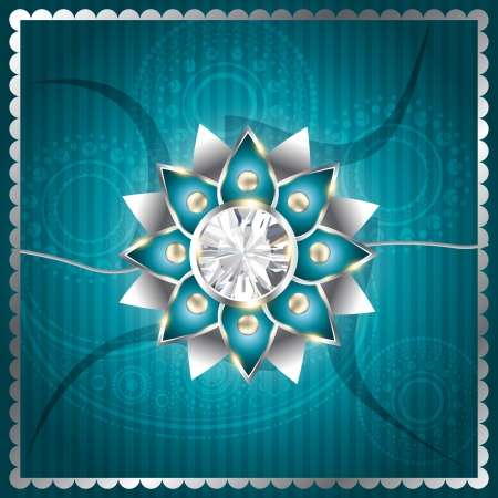 stylish vector rakhi background design Vector