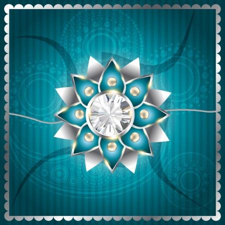 pooja: stylish vector rakhi background design