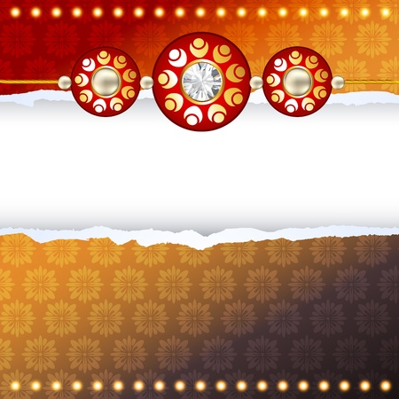 tied girl: shiny rakhi vector background with space for your text Illustration