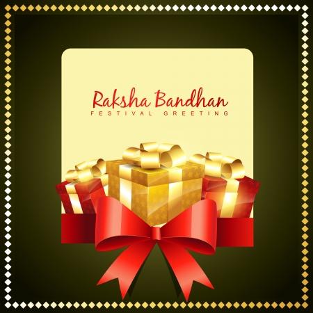 pooja: vector rakshabandhan greeting background design