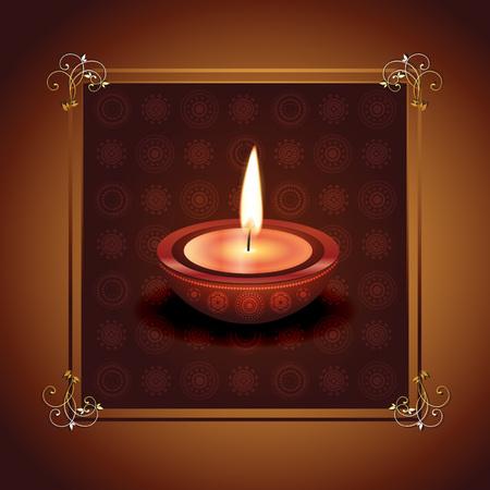 beautiful happy diwali vector design illustration Stock Vector - 22463939
