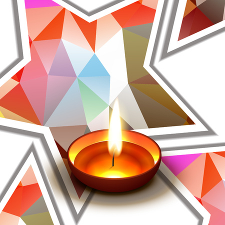 vector diwali colorful background illustration Vector