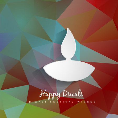 vector diwali diya on abstract background Vector