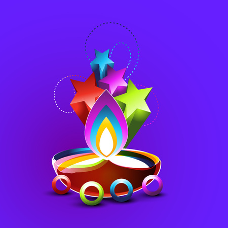 abstract style diwali vector design Vector