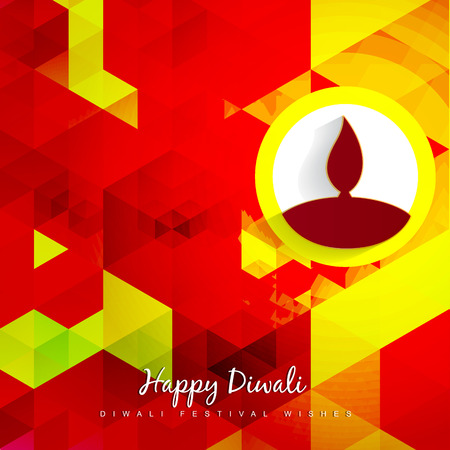 colorful abstract diwali background design Vector