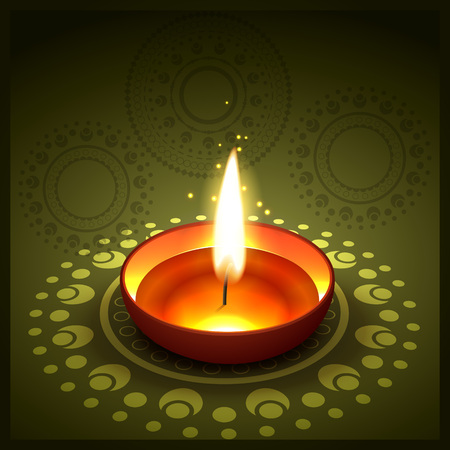beautiful stylish diwali festival illustration Vector