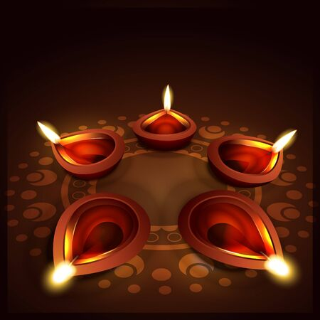 stylish vector diya background design Vector