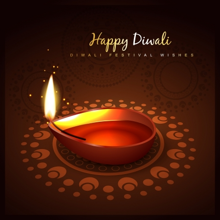 stylish diwali festival vector design