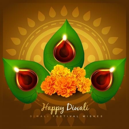cultural hindu festival of diwali Vector