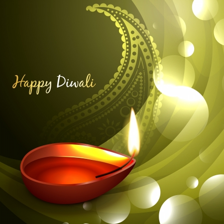 diwali diya design witth space for your text Stock Vector - 22464051