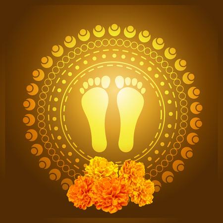 Dieu pied illustration vectorielle d'impression
