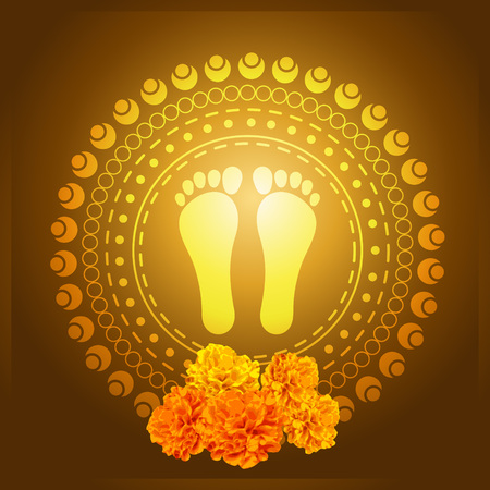 god foot print vector illustration