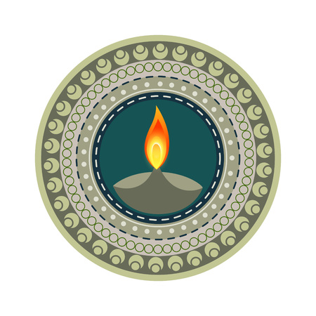 stylish colorful happy diwali vector design Vector