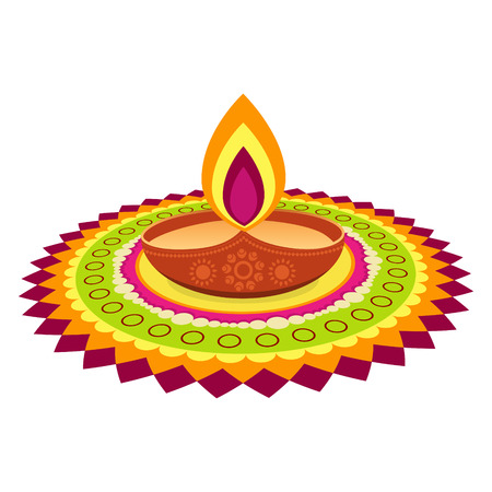 indian colorful diwali festival design Vector