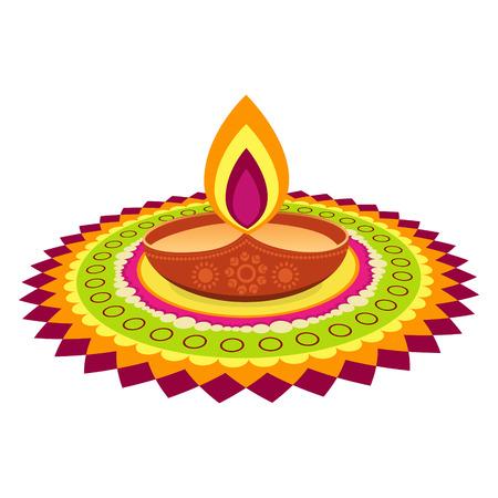 indian kleurrijke diwali festival ontwerp