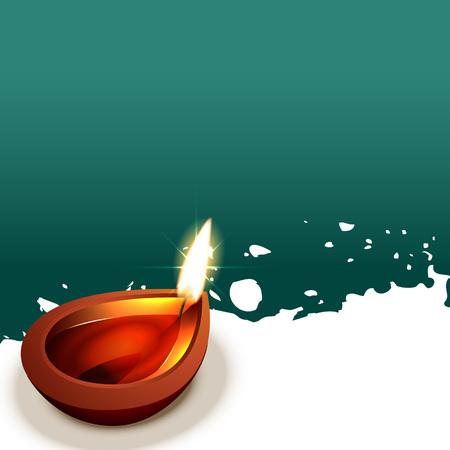 stylish shiny vector diwali diya background Stock Vector - 22463917