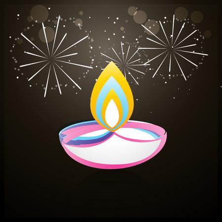 beautiful colorful diwali diya background design Stock Vector - 22463903