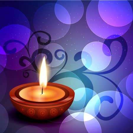 beautiful colorful happy diwali festival greeting Vector