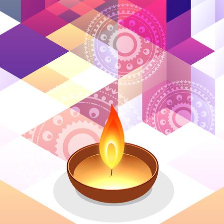 creative diwali festival background illustration Stock Vector - 22463866