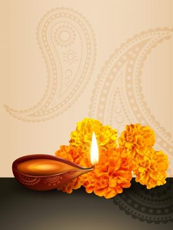 Diwali festival diya vector achtergrond