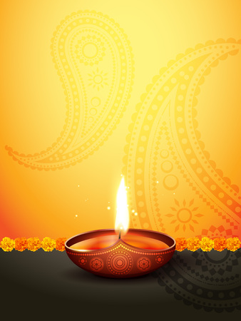 beautiful diwali greeting with space for your text Illustration