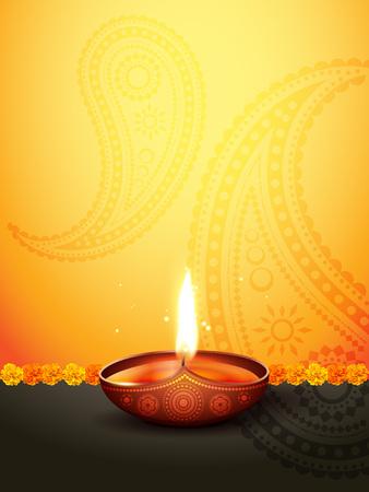mooie diwali groet met ruimte voor uw tekst
