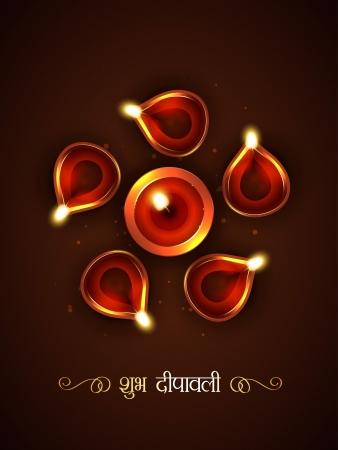 vector stylish diwali festival illustration Stock Vector - 22464200