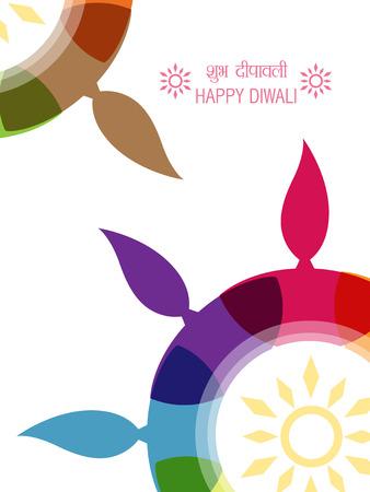 創造的なカラフルなディワリ祭デザイン