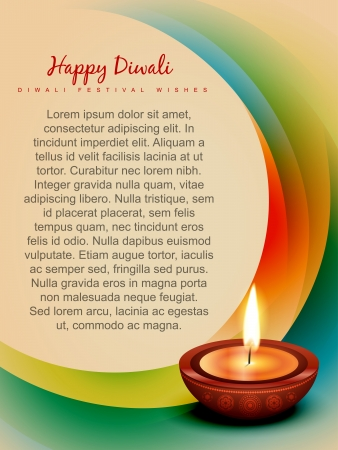 stylish colorful vector design diwali festival art Vector