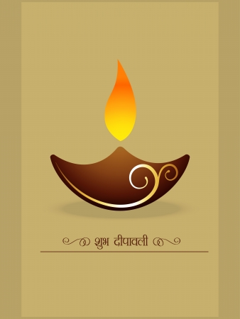 vector simple diwali diya style design Vector
