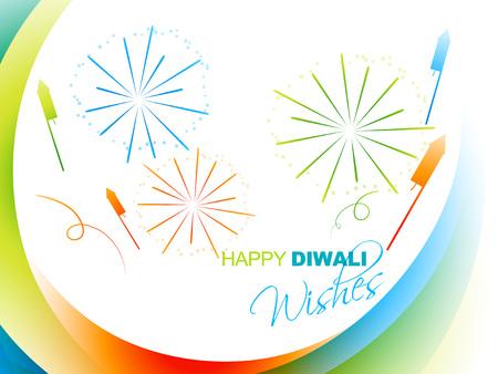 kleurrijk Diwali festival ontwerp met vuurwerk