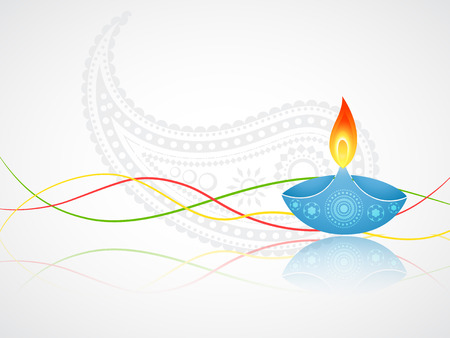 diwali greeting with space for your text 向量圖像