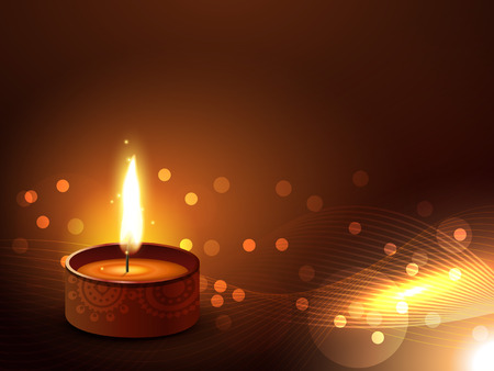 vector diwali diya design background Vector