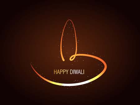 vector creative diwali diya design Vector