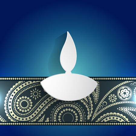 vector white diwali diya background Stock Vector - 22464314
