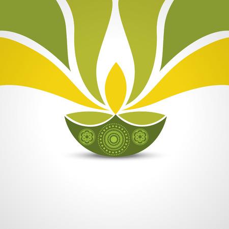 vector green style happy diwali design Vectores