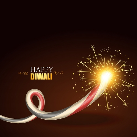 vector diwali festival crackers background Vector