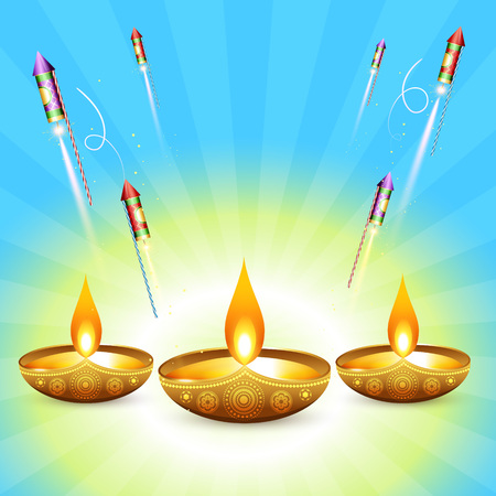 diwali vector design background illuration Vector