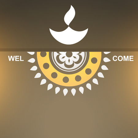 traditional hindu festival diwali design Vector