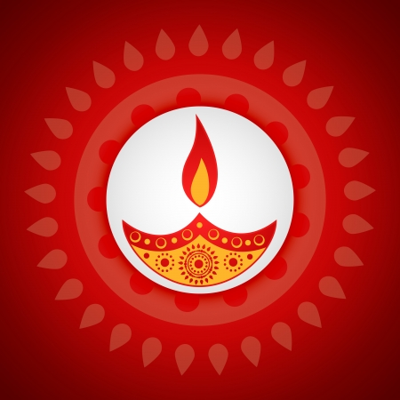 beautiful artistic vector diwali diya design Vector