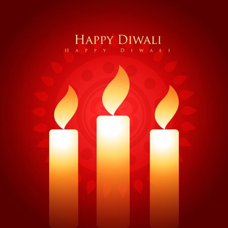 vector shiny diwali candle vector design Vector