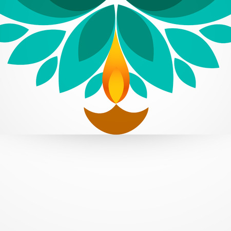 stylish colorful diwali diya design Vector