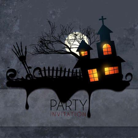 creative scary halloween design illustration Vector