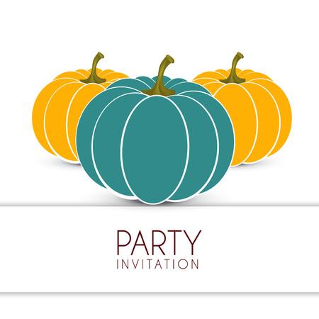 vector halloween pumpkin design background illustration