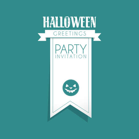 halloween party design card illustration Vector