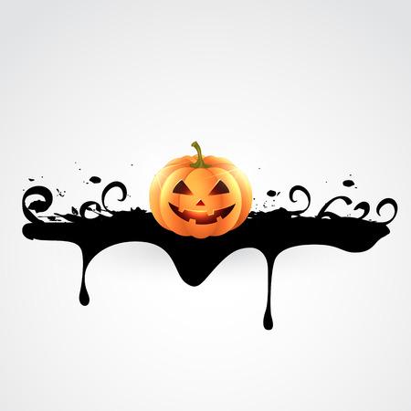 Calabaza De Halloween Espeluznante Diseño Ilustración Ilustraciones ...